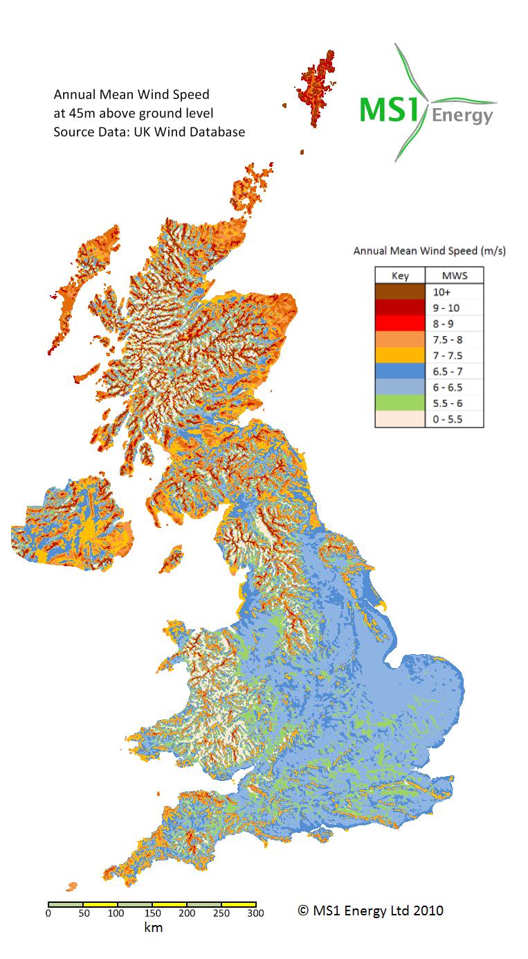 Wind Map Uk UK Wind Map   MS1 Energy Wind Map Uk